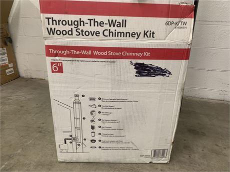 "6"" Through-The-Wall Wood Stove Chimney Kit- New in Box"