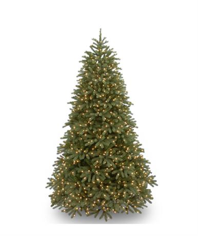 National Tree Company 6.5 ft. Jersey Fraser Fir Medium Tree with Clear Lights