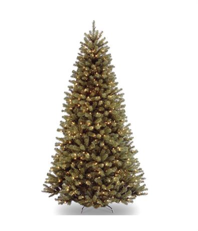 National Tree Company 7-1/2 ft. North Valley Spruce Hinged Tree with 750 Clear L