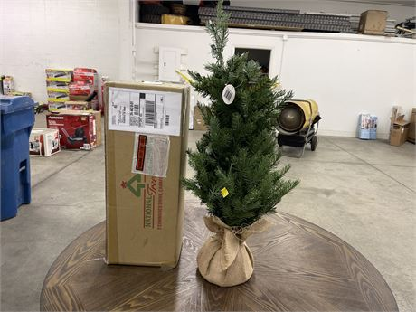 "2 National Tree Company 34"" Christmas Trees- New"