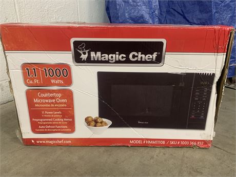Magic Chef 1.1 Cubic Foot Microwave- New in Box