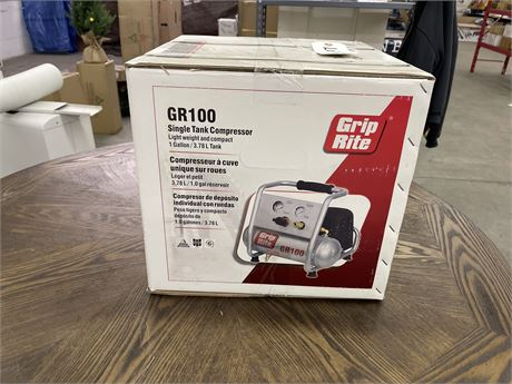 Grip Rite GR100 Single Tank Air Compressor- 1 Gallon